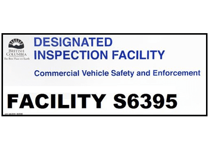 a commercial truck repair shop certified by Designated inspection facility from BC
