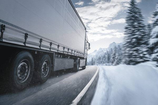 winter truck drivers have some challenges during winter driving situation